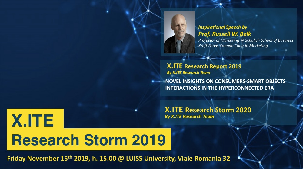 IV X.ITE Research Storm 2019 - Agenda