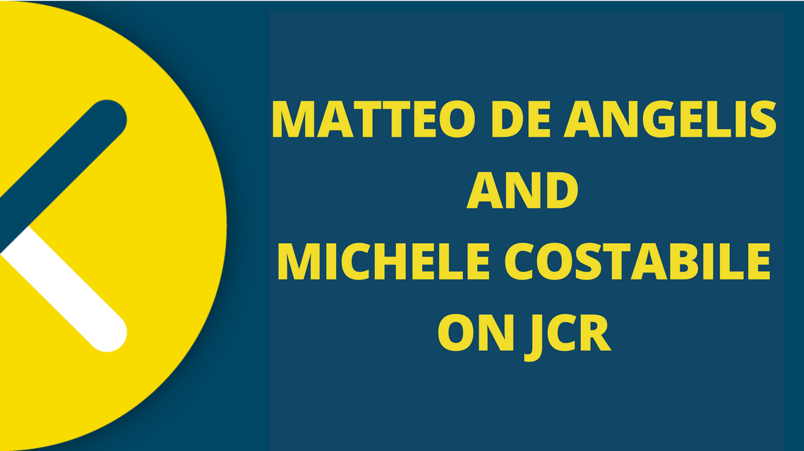 De Angelis and Costabile about Word Of Mouth on JCR